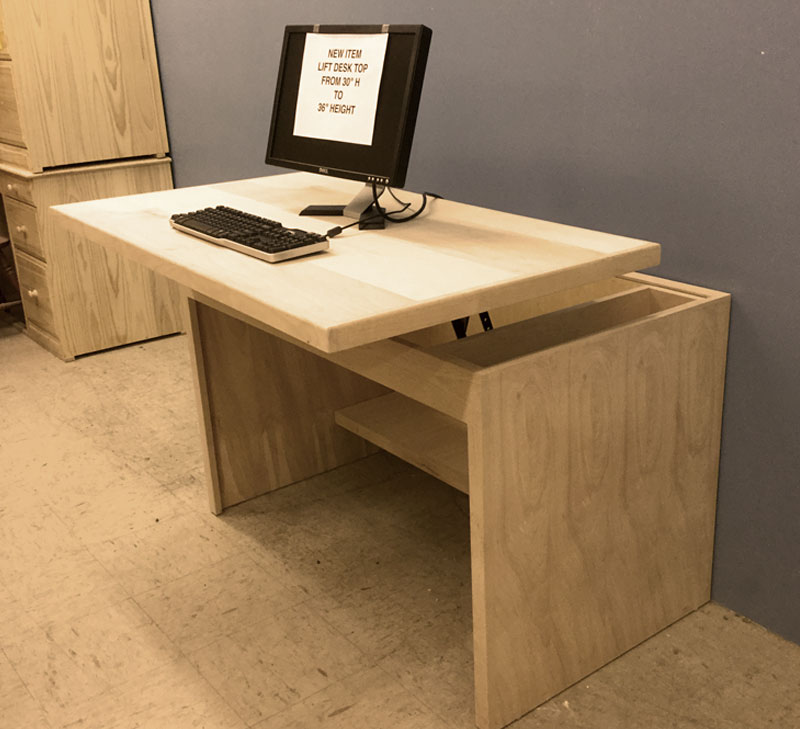 custom standing desk height adjustable desk custom furniture built by design